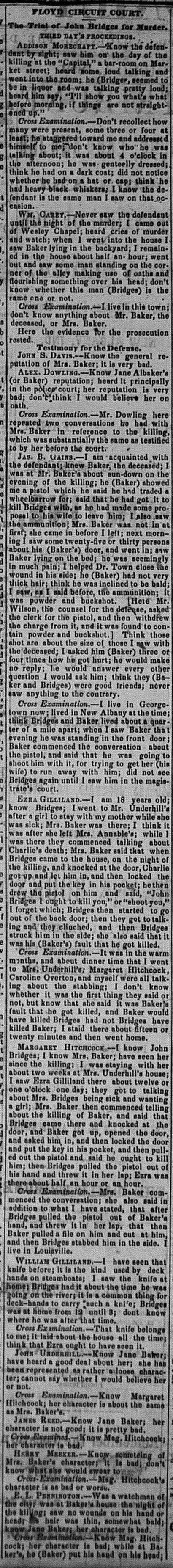 New Albany Daily Tribune, Friday, 4 November 1859, p.2, column 3, Stuart Barth Wrege Indiana History Room
