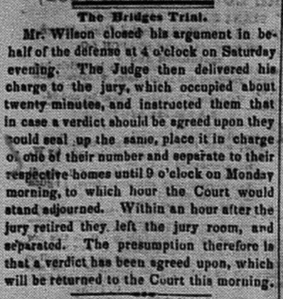 New Albany Daily Tribune, Monday, 7 November 1859, p.3, column 1, Stuart Barth Wrege Indiana History Room