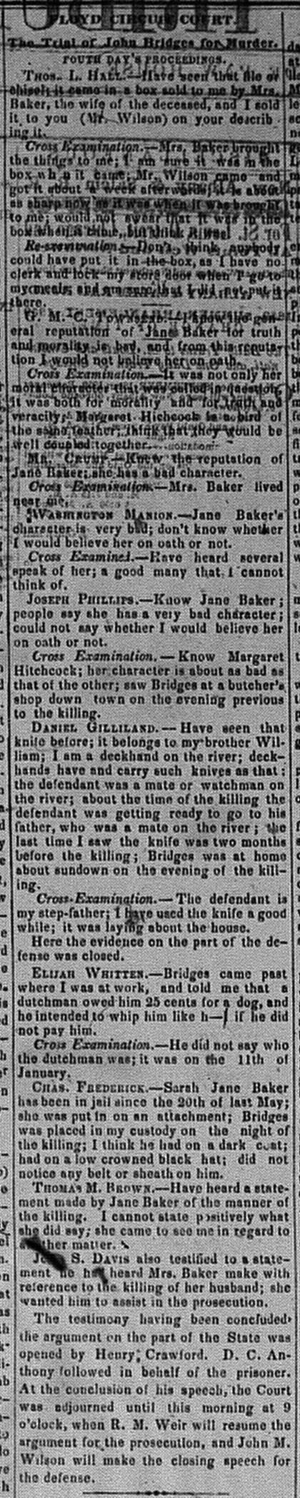 New Albany Daily Tribune, Saturday, 5 November 1859, p.2, column 2, Stuart Barth Wrege Indiana History Room