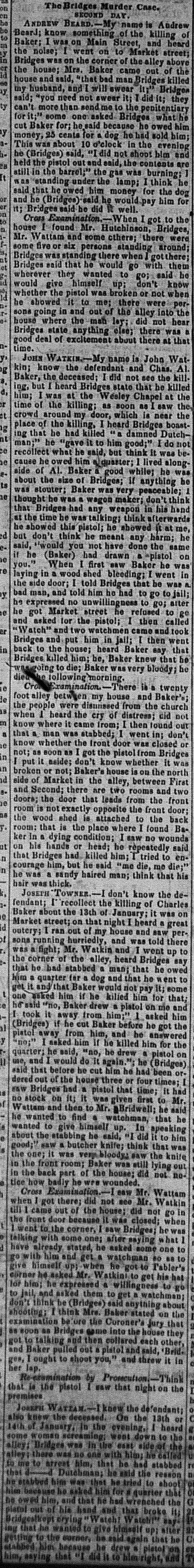 New Albany Daily Tribune, Thursday, 3 November 1859, p.2, column 2, Stuart Barth Wrege Indiana History Room