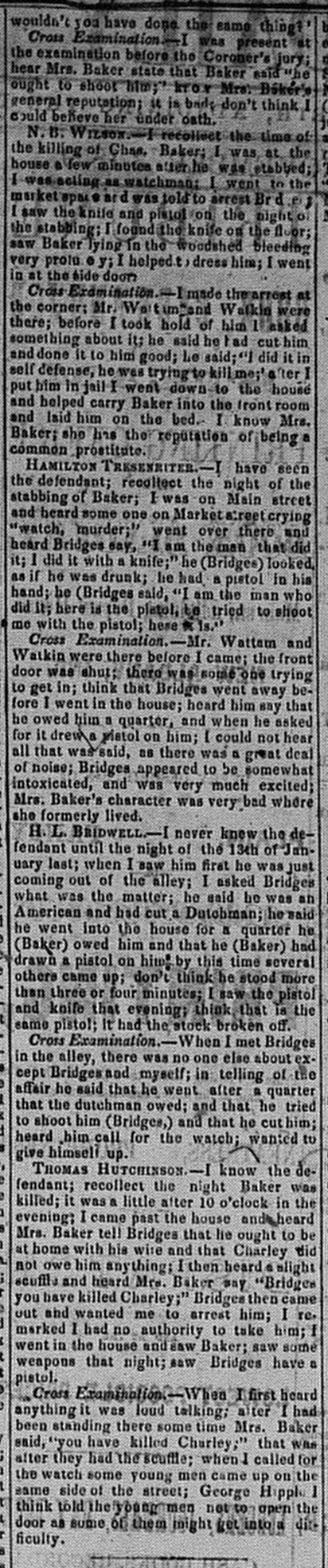 New Albany Daily Tribune, Thursday, 3 November 1859, p.2, column 3, Stuart Barth Wrege Indiana History Room