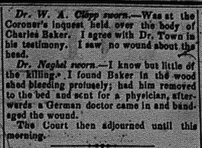 New Albany Daily Tribune, Wednesday, 2 November 1859, p.2, column 4, Stuart Barth Wrege Indiana History Room
