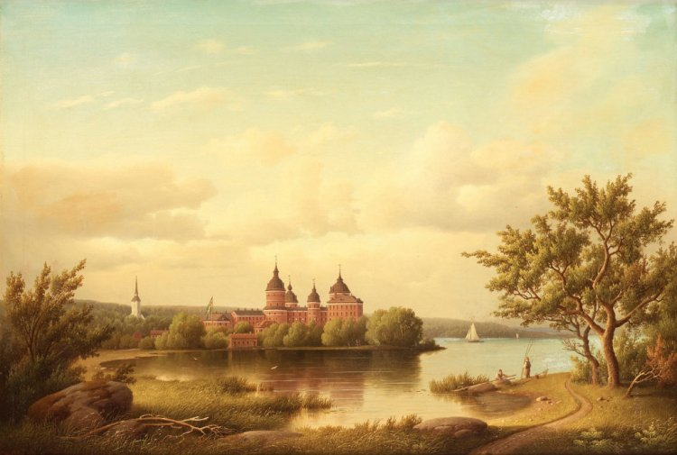 Gripsholm Castle by Carl Abraham Rothstein (1826-1877)