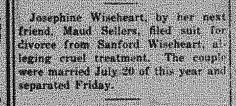 New Albany Daily Ledger, 10 Nov 1917, p.4, column 2, Stuart Barth Wrege Indiana History Room