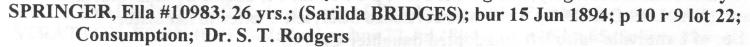 Fairview Cemetery Index, Volume 4, p.71, Stuart Barth Wrege Indiana History Room