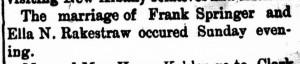 New Albany Daily Ledger, 29 February 1892, p.4, column 6, Stuart Barth Wrege Indiana History Room