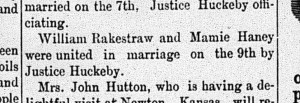 New Albany Daily Ledger, Saturday, 10 October 1891, p. 4, column 3, Stuart Barth Wrege Indiana History Room