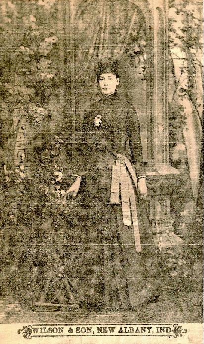 Zerilda Springer, circa 1892.