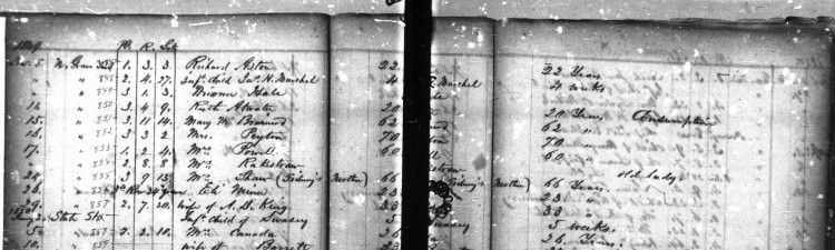 Fairview Cemetery Records, 1841-1864, microfilm, Stuart Barth Wrege Indiana History Room