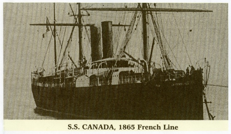 S.S. Canada, courtesy of Shirley Wolf, Von Allmen Family File, Stuart Barth Wrege Indiana History Room