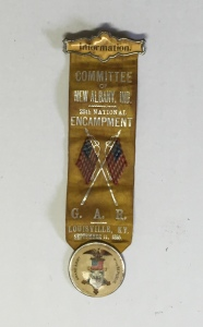 Francis Rakestraw's G.A.R. Information Committee ribbon.
