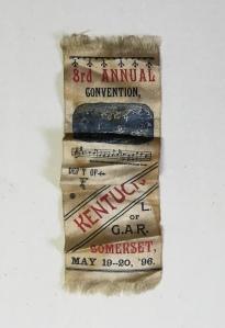 Francis Rakestraw's G.A.R. 3rd Annual Convention (1896) ribbon.
