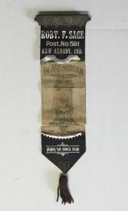 Francis Rakestraw's G.A.R. In Memoriam ribbon.