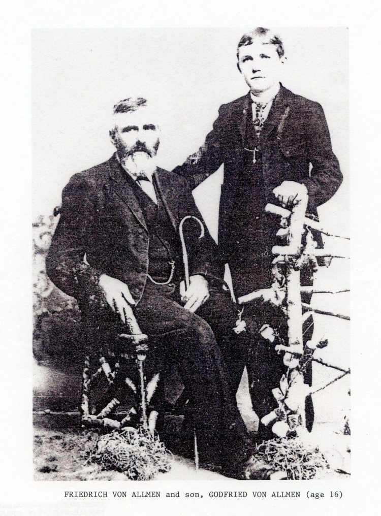 Friedrich and Gottfried Von Allmen, circa 1908, courtesy of Shirley Wolf, Von Allmen Family File, Stuart Barth Wrege Indiana History Room