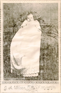 Mildred Gertrude Springer, circa 1892.