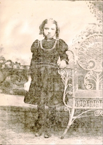 Mildred Gertrude Springer, circa 1900.