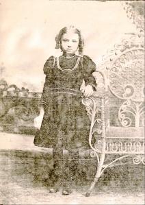 Mildred Gertrude Springer, circa 1900.