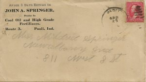 John A. Springer envelope.