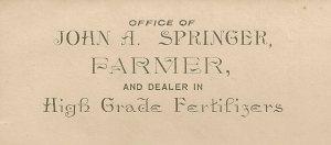 John A. Springer letterhead.