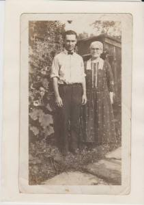 George Herman Schroeder with his mother, Louise Reisenberg Schroeder.