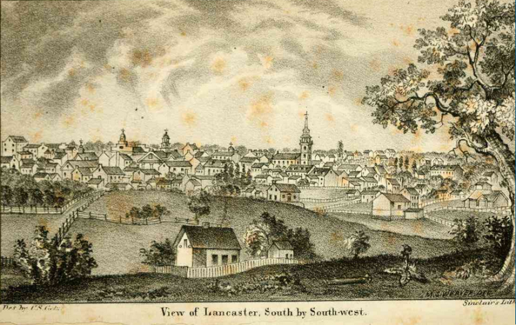 Image from History of Lancaster County by I. Daniel Rupp, 1844.