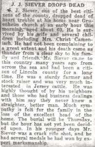Obituary, J. J. Siever