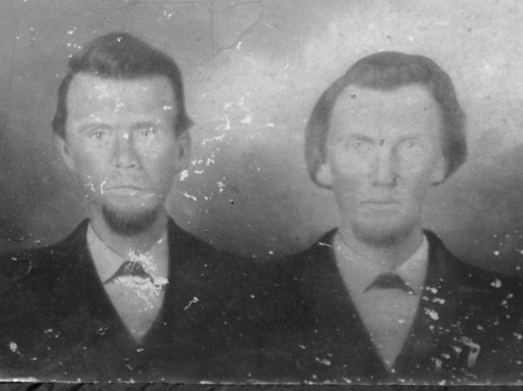 Price Jacobs and Harmon Wiseheart, circa 1850.