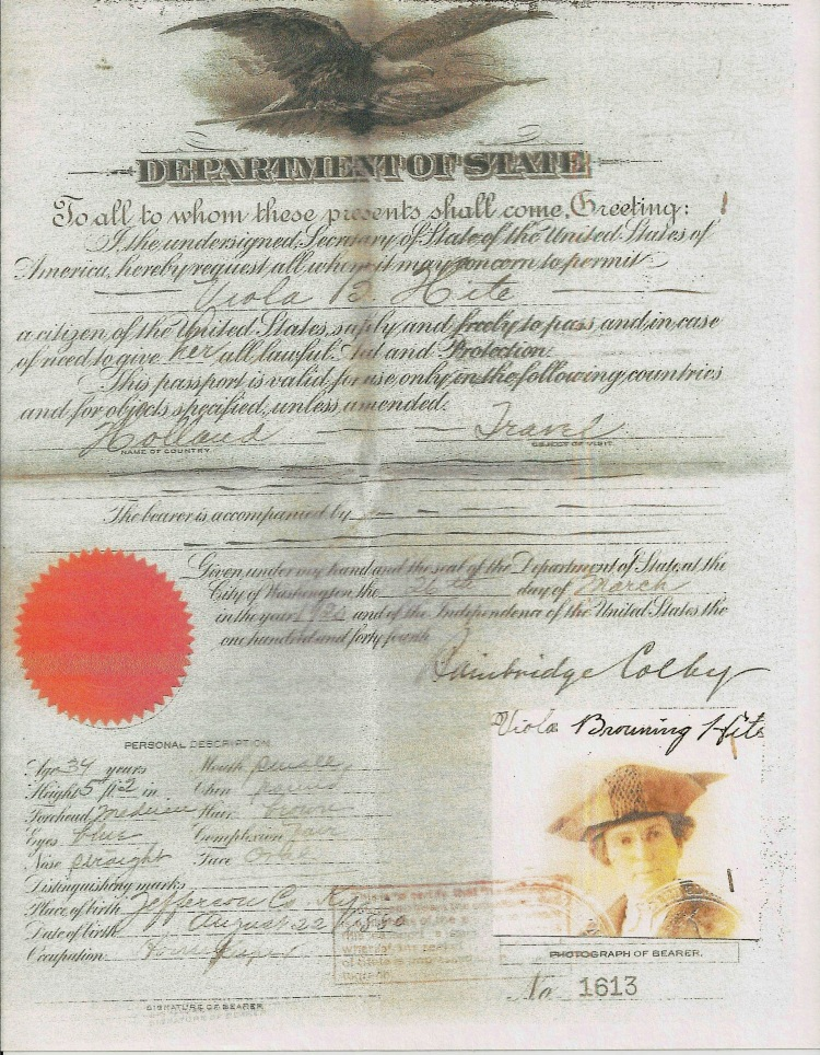 Browning, Viola - Passport