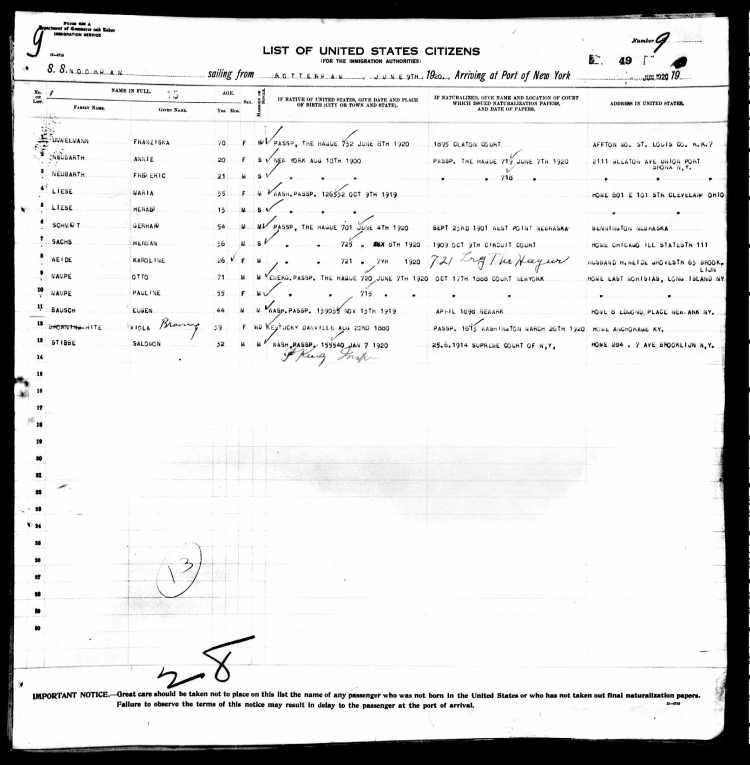 New York, Passenger Lists, 1820-1957, Roll T715, 1897-1957 2001-3000 Roll 2785